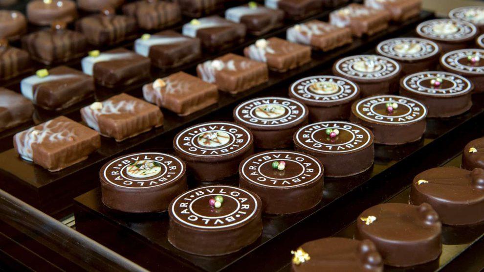 cioccolatini bulgari: foto dei cioccolatini su un tavolo