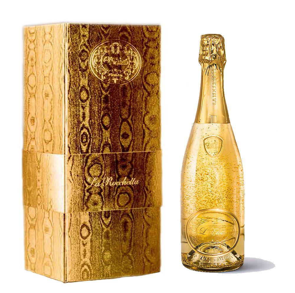 spumante d'oro Etoile, bottiglia e scatola prezisa color oro