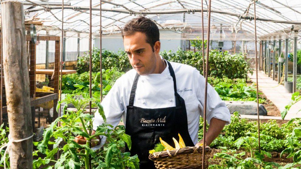 Lo chef del ristorante Piazzetta Milù, Luigi Salomone