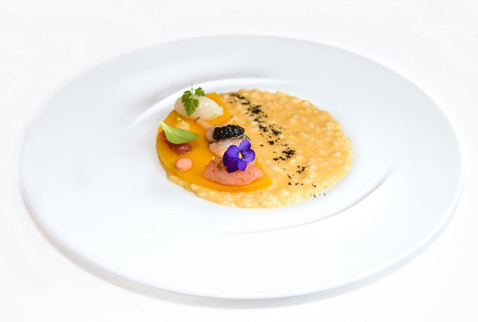 Ristorante Rossellinis - Riso cotto in infuso di pomodori gialli