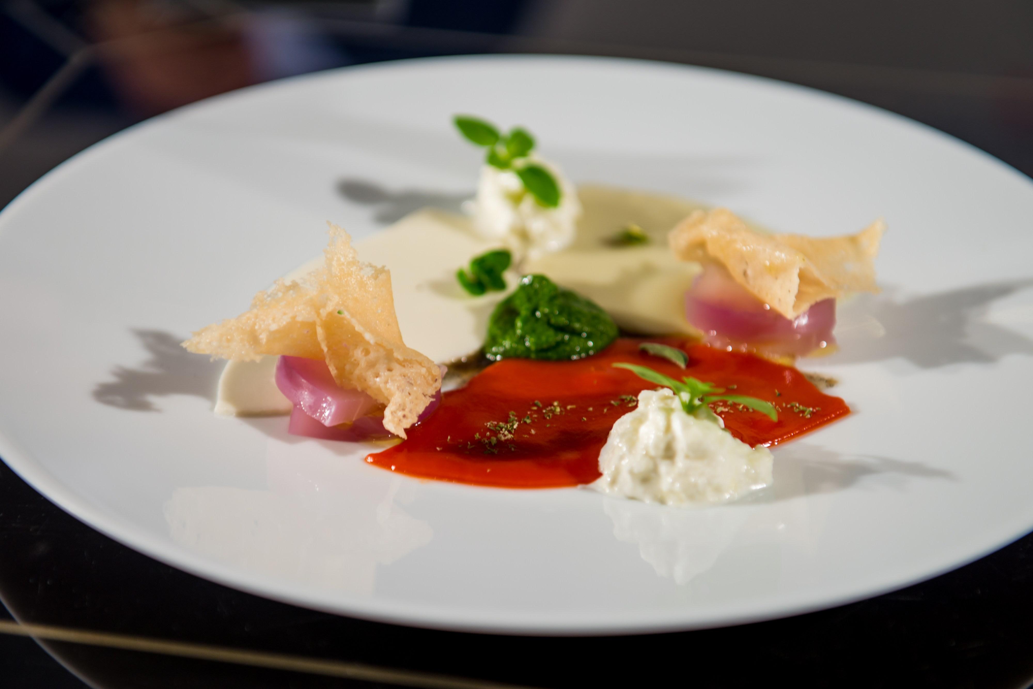 Piatto di parmigiana di melanzane di Enrico Crippa
